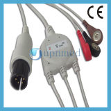One Piece 5 - Lead ECG Cable con hilos conductores