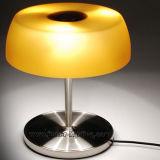 Mini / pequeña original de color marrón moderno de lectura de vidrio mesa de iluminación de la lámpara de mesa para el hogar, D20. H26cm
