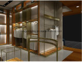 Hölzerne Furnier-Blattmännerkleidung-Einzelhandelsgeschäft-Bildschirmanzeige