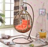 色彩工場屋外の振動、藤の家具、屋内卵のハングの椅子(D008)
