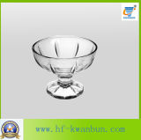 Gute Qualitätseiscreme-Glasfilterglocke-heißes Verkaufs-Tafelgeschirr Kb-Hn0150