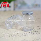 Salada de vidro do frasco do atolamento redondo que veste o frasco com tampa do metal