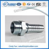Garnitures métriques de femelle de coude de boyau du carbone de joint circulaire hydraulique de l'acier 24deg