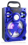 Altofalante de madeira de Bluetooth com luz e FM