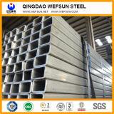 Q235 Ss400 A36 Vor-Galvanisiertes rechteckiges Stahlgefäß