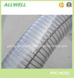 Tuyau renforcé en spirale industriel de source d'eau de fil d'acier de PVC
