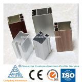 Profil en aluminium des graines en bois pour le guichet en aluminium