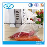 HDPE/LDPE effacent le sac plat en plastique de nourriture sur le roulis