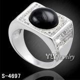 Il micro della cera dei monili degli uomini di modo pavimenta l'anello dell'uomo dell'argento 925