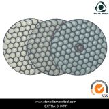 100mm Diamond Resin Dry 3-Step Polishing Pads per Granite Marble