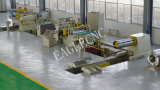 자동적인 Steel Coil Slitting & Length Combined Line Machine에 Cut