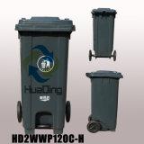 pattumiera di gomma di plastica della rotella dello scomparto di rifiuti 120L per Outdoo HD2wwp120c-H