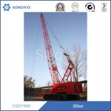Grue de chenille de levage de levage hydraulique du matériel CQUY800