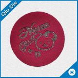 Escritura de la etiqueta de Woben de la insignia del oso del círculo para la ropa de los cabritos