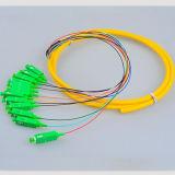 Tresses de fibre optique du mode unitaire Sc/APC 12