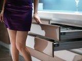 2017の新式の現代光沢度の高いラッカー食器棚(zz-066)