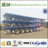 4 container Semi Truck Trailer degli assi 45FT Flatbed
