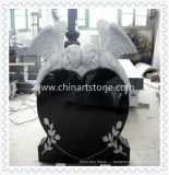 Granito e Marble Heart Monument Headstone Gravestone for Funeral