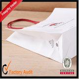 ペーパーショッピング・バッグ、カスタムハンドルが付いているロゴによっては印刷される紙袋、Reticule、ギフト袋に入れる(STD012)