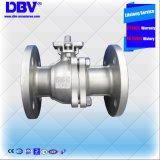 Válvula de esfera flutuante de flange de flange de aço inoxidável pneumática