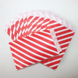 党のための環境に優しいしまのある赤い紙袋