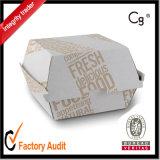 Rectángulo de papel modificado para requisitos particulares disponible de la hamburguesa/rectángulo de empaquetado del acondicionamiento del rectángulo/de los alimentos de la hamburguesa, rectángulo de la hamburguesa