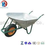 空気の車輪が付いている亜鉛によってめっきされる皿の一輪車(WB - 6404Z)
