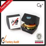 Kundenspezifischer Papierburger-Wegwerfkasten/Burger-verpackenkasten-/Verpacken- der Lebensmittelkasten