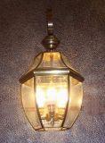 Luz de cobre da parede 19030 com decorativo de vidro