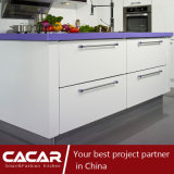 Violette Form-stilvoller Schwefeln-Lack-Lack-Küche-Schrank (CAIK-06)