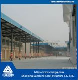 Almacén de acero prefabricado de Srtucture con el panel de Sandwish