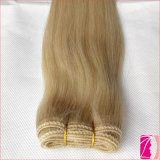 100% tissages bon marché de cheveux humains de couleur blonde de qualité de Hight