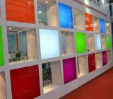 Feuille acrylique de couleur de transparent, feuille de diffuseur, panneau de publicité