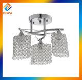水晶および金属天井ランプのための標準的なデザインシャンデリア