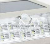 Fora de ao ar livre claro solar psto solar de Mountted da parede do diodo emissor de luz do sensor de movimento das luzes