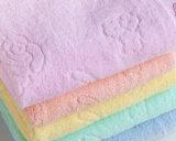 低価格の子供のためのカスタマイズされた明白な手のジャカード浴室タオル