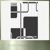 Feuille décorative d'acier inoxydable de couleur de délié noir de vibration de Ti
