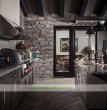 島のキャビネット(WH-D454)が付いている灰色のステンレス鋼の屋外の台所