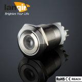 der 19mm PUNKT leuchtete Antivandalen-Drucktastenschalter L19 (19mm) gebildet vom Edelstahl