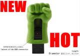 Movimentação do flash do USB do metal de Pendrive da vara do USB da mão do casco