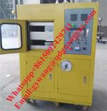 Prensa de curado de goma del laboratorio caliente de la exportación de América con la rueda