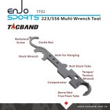 Tacband 전술상 병기공의 Ar 15/M4를 위한 강철 다중 공구 조합 렌치