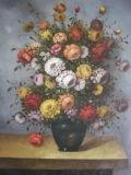 Peinture à l'huile de fleur (004)