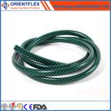 Manguito de jardín flexible reforzado tejido PVC colorido de la mejor calidad