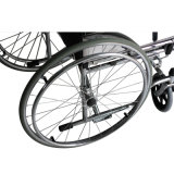 Commode Reclining Wheelchairs avec Leg Support Pad