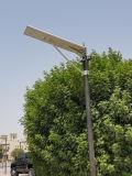 30W todo en una luz de calle solar para el jardín