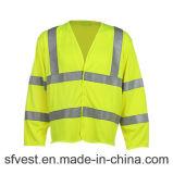 Одежда безопасности втулки пожаробезопасной высокой видимости длинняя