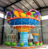 O parque de diversões clássico das crianças monta a cadeira de giro do vôo do mini balanço