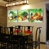Verdure moderne della pittura di parete di vendita calda delle 3 parti che verniciano la maschera di arte della parete della decorazione della stanza verniciata sulla decorazione Mc-217 della casa della tela di canapa