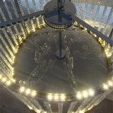 Светильник самомоднейшей нержавеющей стали гостиницы декоративной цилиндрический кристаллический привесной